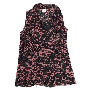 Cabi 9 to 5 Blouse Leopard Print Pink